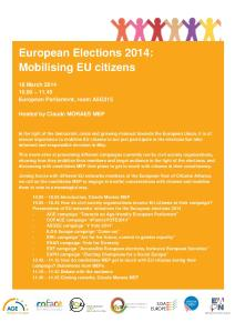 European Elections 2014 Mobilising EU citizens_Save the date