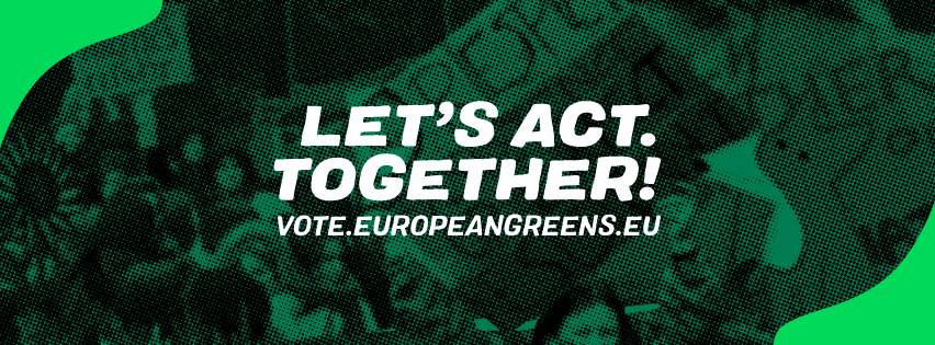 European greens banner for the elections